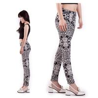 Rushed 2014 Casul Yoga printed leggings Women High Stretched sports Fitness Print legging Punk Pants leggins calcas femininas