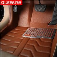 free shipping fiber leather car floor mat for geely emgrand ec7/ec8/ec718/ec7-rv fit well, won't move