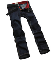 2014 New Coming Casual Retail Men's Four Season Famous Brand Skinny Jeans Denim Pants High Quality Sports 28-38 Ripped Black