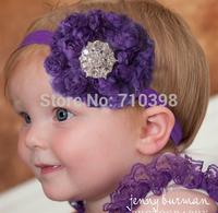Girl Chiffon Hair Rosette Flower Headband Hair Band Baby Children Hair Accessories 10Pcs/Lot Rose Lace Hairband Flower Headdress