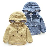 Suggest Kids height 90~130cm Retail 1pcs boys coats kids jackets baby outerwear autumn Long sleeve dots children windbreaker