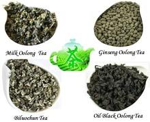 12 bags Organic Chinese Different flavors tea Biluochun Milk Oolong Ginseng Oolong Oil Black Oolong Tea Green Tea+Secret Gift(China (Mainland))