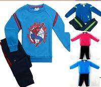 Retail children shampooers jogging Spider-Man tracksuits sport set long sleeve T-shirt+pant kids Boys Spring autumn clothes Suit