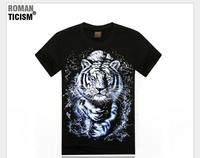 2014 newest style 3D tshirt men high quality cartoon/building/anima printed cotton t-shirt 21models free shipping