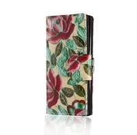 new 2014 genuine leather long purse women wallets women clutch female fashion print flower cowhide high quality bolsas femininas