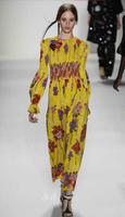 2014 summer women's elegant beach dress tantalising flower print yellow maxi dress