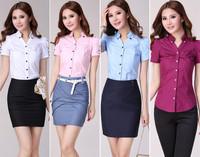 Women Cotton Blouse Shirt Plus Size S-XXXL Camisas Femininas Roupas Blusas Women Work Wear Classical Tops Clothing Casual Blouse