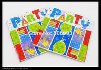 Food-grade Birthday Para Festas Paper Napkin Event Tissue Napkins Decoupage Decoration Paper 33cm*33cm 1pack/lot