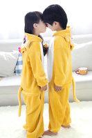 Hot cute children unisex pajamas jumpsuit hoodie animal cosplay costume no shoes