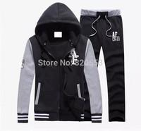 Fashion Sport Suit Men Brand Gym Suits cotton leisure tracksuit / sweatsuit hoodied Jacket +Pants SetM-2XL
