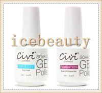 (Choose 6 pcs) Civi Nail Gel Polish Soak Off Nail Gel UV 30 Days Long Lasting 200 Gorgeous Colors UV/LED Gel 0.5oz (Base+Top)