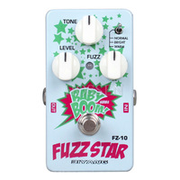 """Biyang """"Baby Boom""""FZ-10 Guitar Effect Pedal Three Models Fuzz Star Distortion True Bypass+ MOEN Patch Cable"""