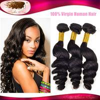 Sophia Hair Mixed 3 Pcs Lot Brazilian Loose Wave Virgin Hair Extensions Natural Color 6A Brazilian Loos Wave Virgin Human Hair