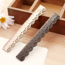 Korea Zakka Kawaii Cute Stationery LACE BROWN Wood Ruler Sewing Ruler Drop Shipping OSS-0098(China (Mainland))