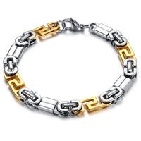 Classic Vintage Stainless Steel Personality Men Bracelet &  Bangles Charm Chain Wristband Men's Bracelet, n721
