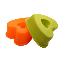 Heart Hollow Shaped Mold Sweet Circle Silicone Cupcake Cake Bread Mould 11.5*11*4.5cm Soap Molds Bakeware Baking Tools 14091601