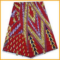 veritable real wax fabric super wax african wax fabric 6 Yards dutch wax fabric red