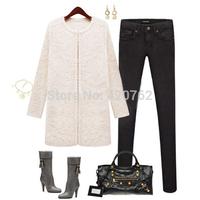 Free Shipping Plus Size S-5XL New 2014 Winter Women Fashion Warm Coat Thick Plush Coat Jacket Outwear Wool & Blends Clothing