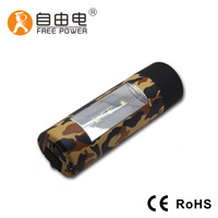4400mAh Manual generation phone charger led torch