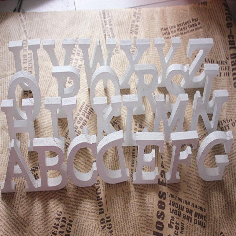 Decoracion Letras Home ~ Decoraci?n decoraci?n del hogar de madera gruesa letras blancas de