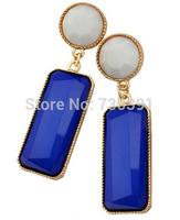 Free shippingNew Arrival Fashion Women's Jewelry Geometry Pierced Drop Resin