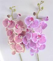 Silk Orchids 6pcs/lot 90cm Long Wedding Phalaenopsis Leopard Print Butterfly Moth Orchid Wedding Decorative Artificial Flowers