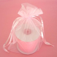 Free Shipping 100pcs/lot 30x40cm Extra Large Pink Gauze Bag Gift Bag Jewelry Package Bag Drawstring Bag