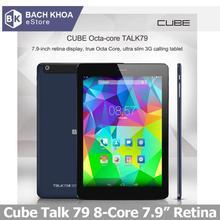 "New Arrival CUBE TALK79 Octa-Core 7.9"" MTK8392 Tablet PC TALK 79 3G Phone Call GSM WCDMA GPS 2G 16GB 2048x1536 Retina IPS 79S(China (Mainland))"
