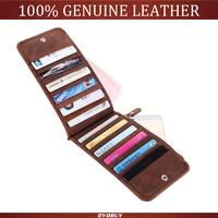 2014 new fashion men wallet genuine leather Crazy Horse Leather Wallet For Men Purse long design business Card Holder