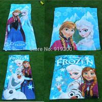 DHL 60*120cm New Frozen Towels 3 Designs Elsa Anna Olaf Cotton Towels Bathroom Children Beach Towel Kids Bath Towels F128