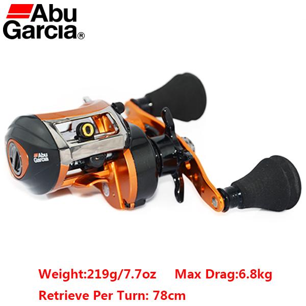 Abu Garcia Brand Orange Max Left Hand Fresh Sea Water Bait Casting Reel Drum Carp Fishing Gear Baitcasting 4+1BB 7.1:1 OMAX2-L(China (Mainland))