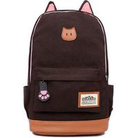 Fashion Campus Girl Women Cartoon Cat Ear Shoulder Bag Backpack Schoolbag Men Canvas Backpacks Travel Hiking Bags