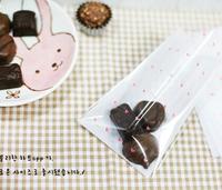 100pcs 10x13cm 10x10+3cm Little Pink Heart Plastic Bag Food Cookie Bag Plastic OPP Bag Jewelry Gift Poly Bag