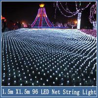 1set 1.5*1.5 m 96Led Christmas String Light 8 Flash Modes New year Wedding Ceremony Halloween Decoration EU Plug 220V Net Strip