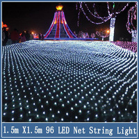 1set 1.5*1.5 m 96Led Christmas String Lights 8 Flash Modes New year Wedding Ceremony Halloween Decoration EU Plug 220V Net Strip