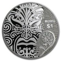 Free shipping 200pcs/lot 2013 .999Maori Art - Koru  SILVER  Replica,silver clad  Coin