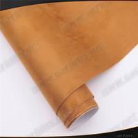 High stretchable alcantara self adhesive car sticker , brown fabric for car wrap decoration film 1.35*15m