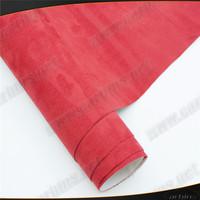 New arrival , red Alcantara self adhesive sticker for car interior decoration  car velvet vinyl wrap film 1.35*15m