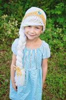 free shipping,2014 NEW Frozen hat, Anna hat and Elsa hat crochet hats VARIOUS SIZES, crochrt Hat,Girl's hat,Children's hat stock