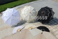 (10 sets/lot) Wedding Lace Parasols And Fans Set Bridal Wedding Gift 2014 New Arrival Bride Umbrella and Fans