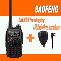 DHL FreeShipping+Baofeng A52 A-52 midland walkie talkie dual band vhf uhf portable radio set with microphone speaker for uv 5r