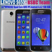 Original New Lenovo S650 Vibe OS4.4.2 4.7''Gorilla Glass 960x540 Pixels MTK6582 Quad Core 1GB 8GB 0.3MP 8.0MP WCDMA 3G Mini S960