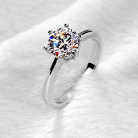 NICETER New Arrival 925 Sterling Silver Rings For Women Wedding Jewelry 6 Prong Setting Swiss CZ Diamond  Engagement Rings LR252