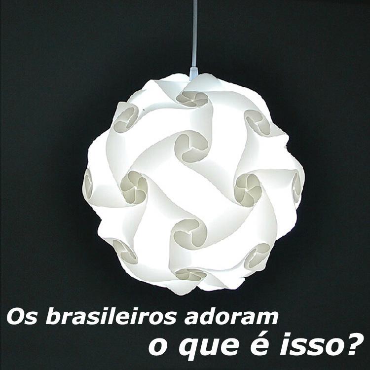 Modern DIY ball shape pendant lights novel IQ puzzle pendants lamp white abajur, size Dia 25cm/30cm/40cm(China (Mainland))