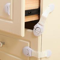 Baby Safety 10pcs Lengthened Child Lock Cabinet Lock Bendy Fridge Door Locks Drawer Toilet Safety Plastic Lock Care  ej871404