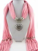 3Pcs/Lot  Fashion  women jewelry scarf  heart pendant scarf  winter gift