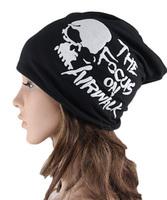New Fashion Unisex Letter Beanie Skull Hat Men Women Baggy Slouchy Sport Hat Warm Winter Ski Hat Hip Hop Dancer Cap