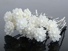 NEW 120Pcs Lots Wedding Bridal Crystal Faux Pearl Flower Hairpins Hair Pins 5Styles