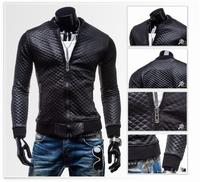 NEW Fashion  Men's  leather jacket mens fashion coat casual outerwear  Black color, size M-XXL ZPY25