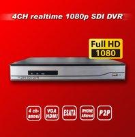 Free shipping High cost performance  Full HD 1080P 4CH Realtime HD SDI DVR ,1HDD, Audio, VGA, PTZ, E-SATA, HDMI, HD-SDI DVR
